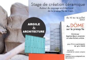"Stage ""Argile & Architecture"""