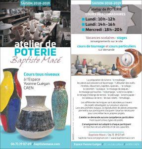 Atelier de poterie Baptiste Macé