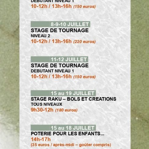 stages poterie caen