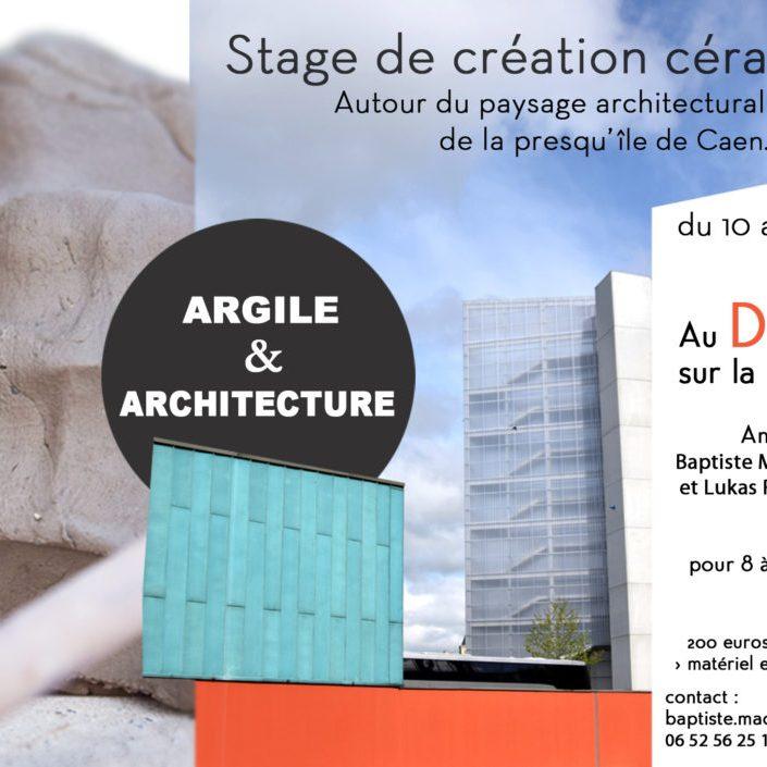 """plaquette stage """"argile et architecture"""" Le Dôme"""